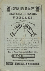 Advert For Kirby, Beard & Co., Self Threading Needles
